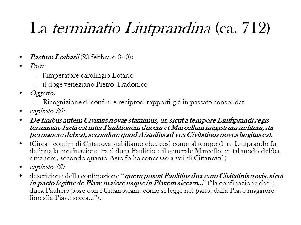 La terminatio Liutprandina (ca. 712)