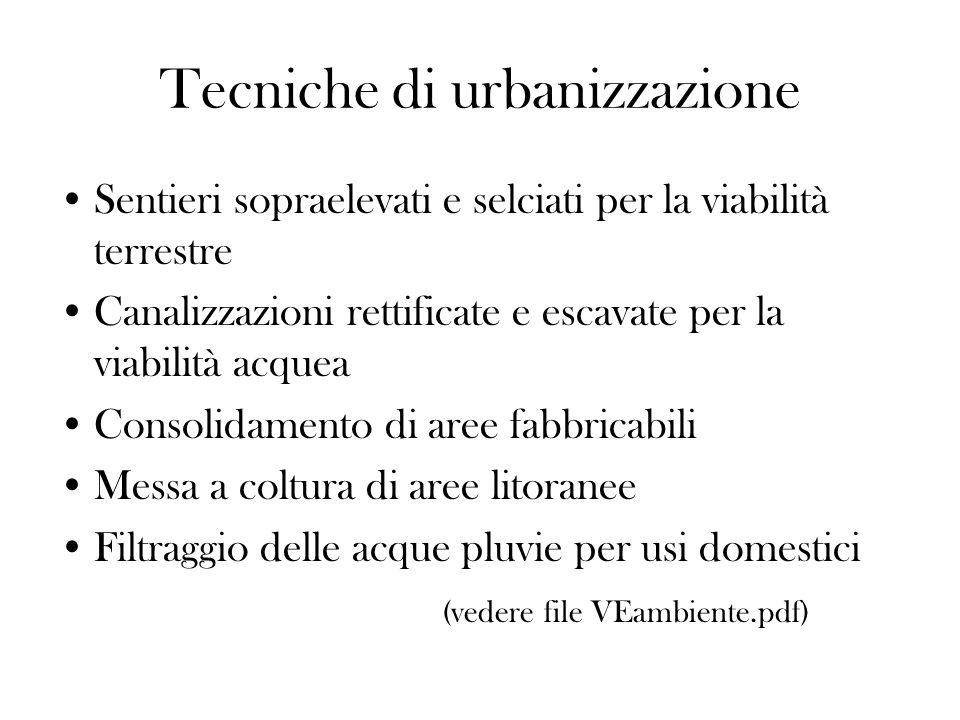 Tecniche di urbanizzazione