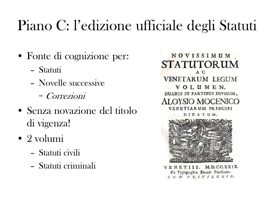Piano C: l'edizione ufficiale degli Statuti