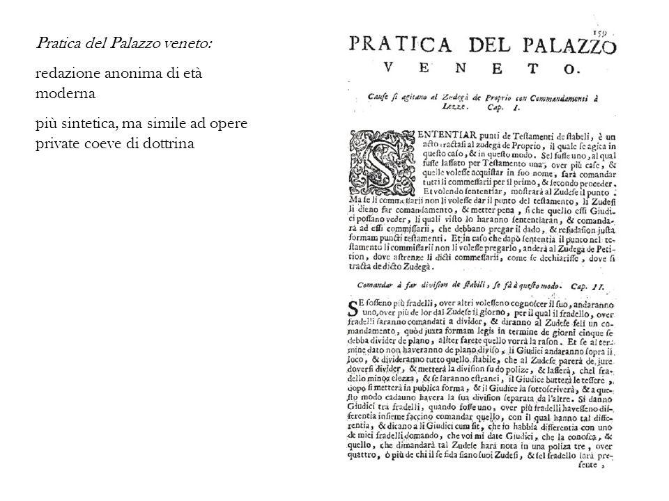 Pratica del Palazzo veneto: