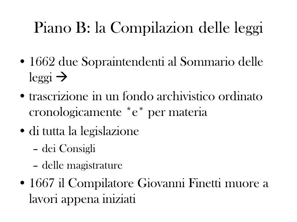 Piano B: la Compilazion delle leggi