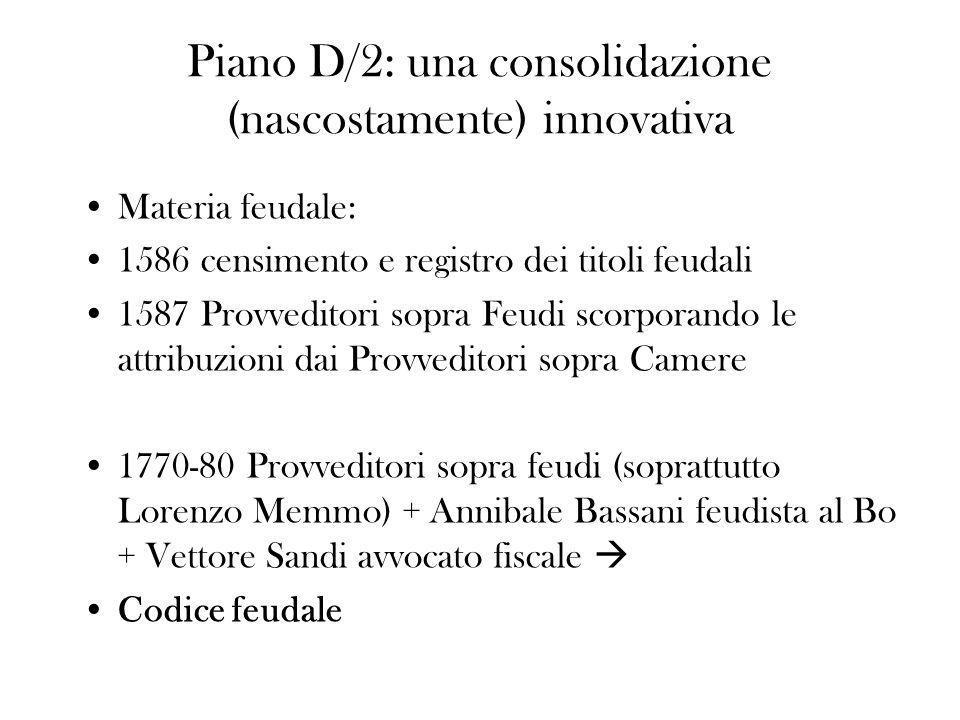 Piano D/2: una consolidazione (nascostamente) innovativa