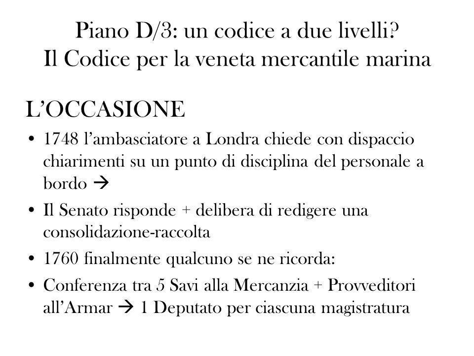 Piano D/3: un codice a due livelli
