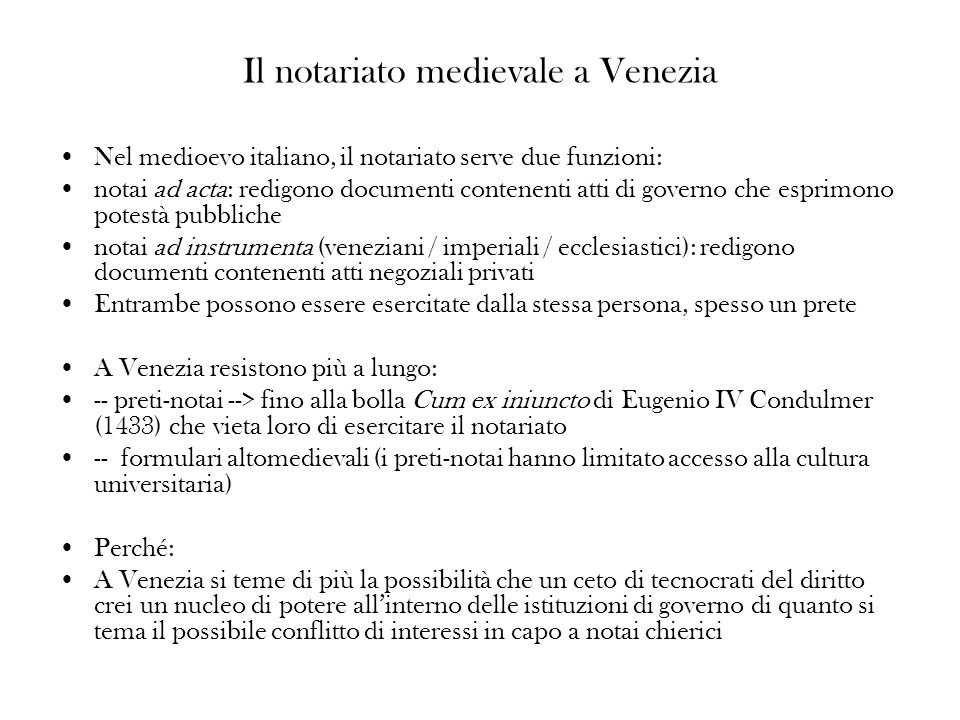 Il notariato medievale a Venezia