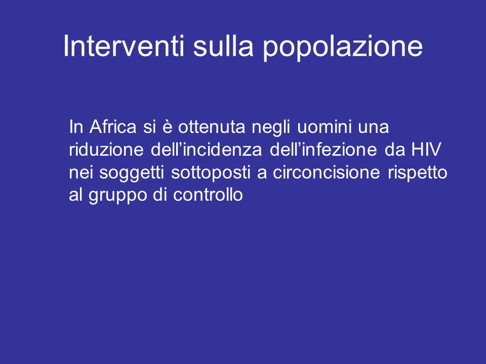 Interventi sulla popolazione