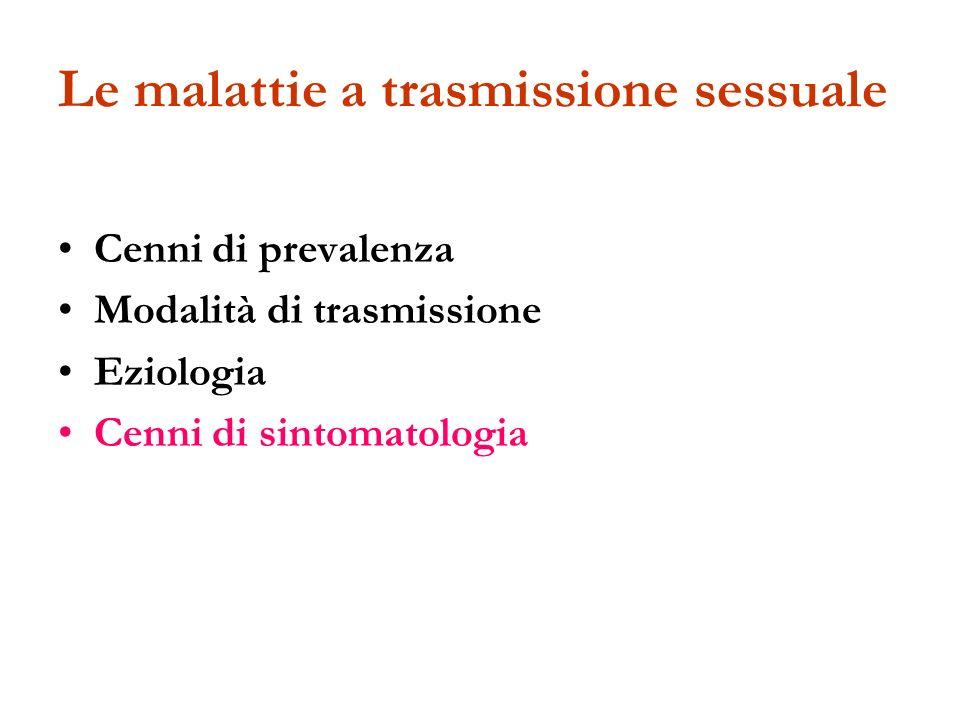 Le malattie a trasmissione sessuale