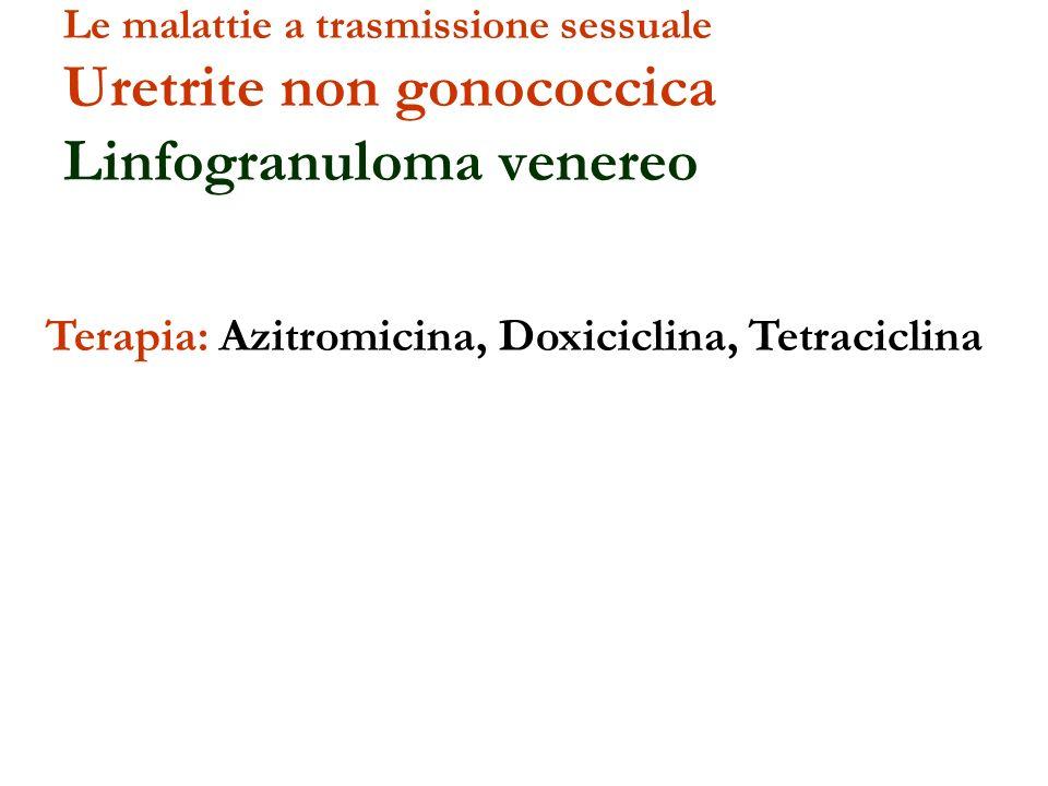 Terapia: Azitromicina, Doxiciclina, Tetraciclina