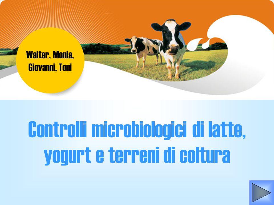 Controlli microbiologici di latte, yogurt e terreni di coltura