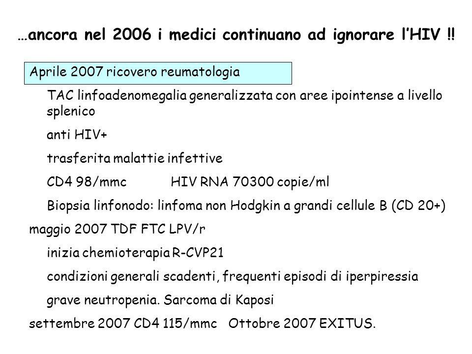 …ancora nel 2006 i medici continuano ad ignorare l'HIV !!