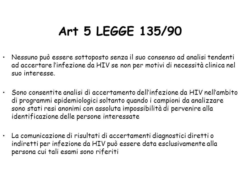 Art 5 LEGGE 135/90