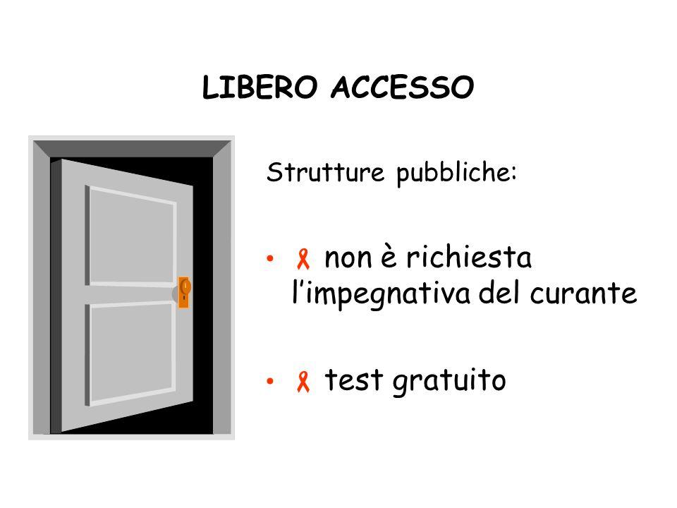 LIBERO ACCESSO Strutture pubbliche: