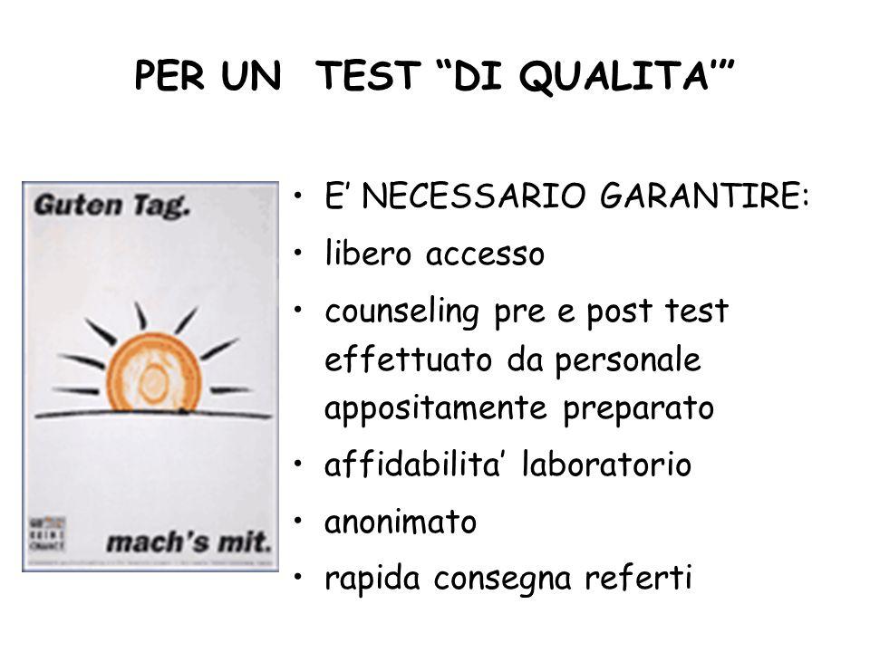 PER UN TEST DI QUALITA'