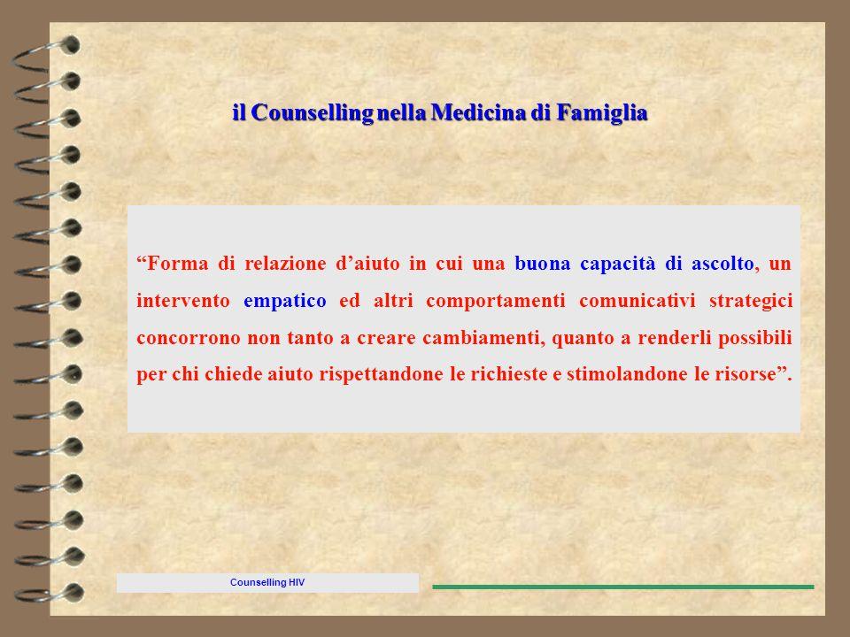 il Counselling nella Medicina di Famiglia