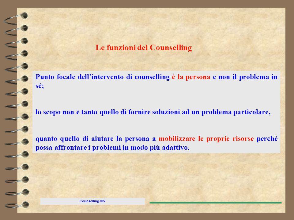Le funzioni del Counselling