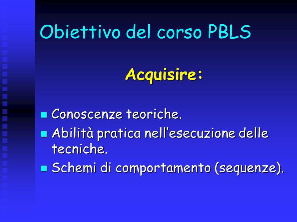 Obiettivo del corso PBLS