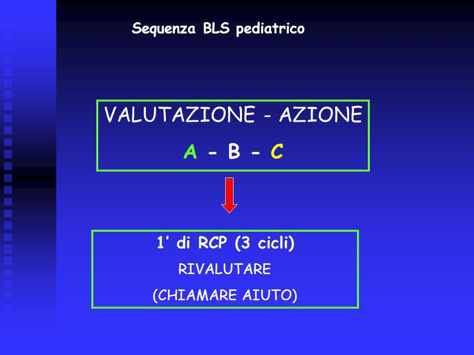 Sequenza BLS pediatrico