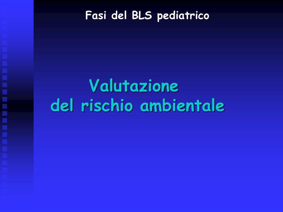 Fasi del BLS pediatrico del rischio ambientale
