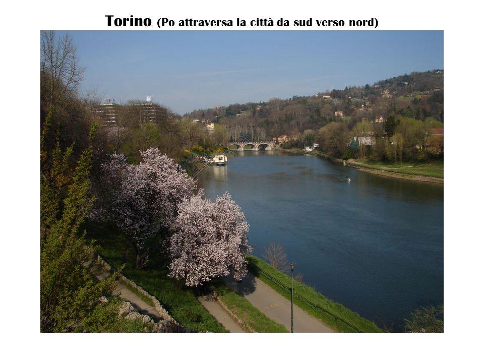 Torino (Po attraversa la città da sud verso nord)