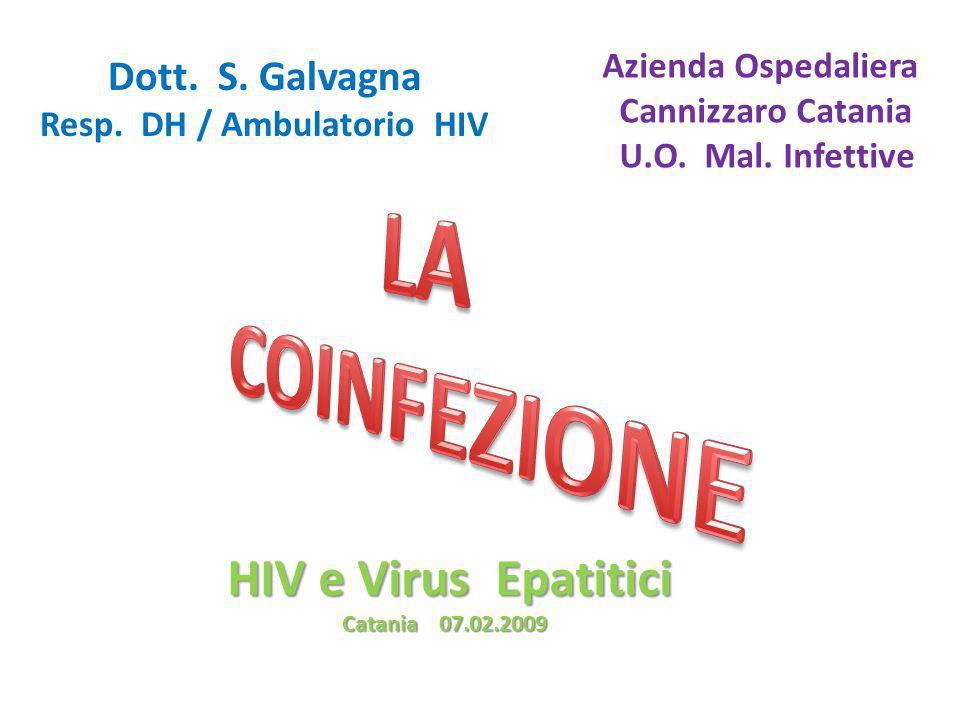LA COINFEZIONE HIV e Virus Epatitici Azienda Ospedaliera