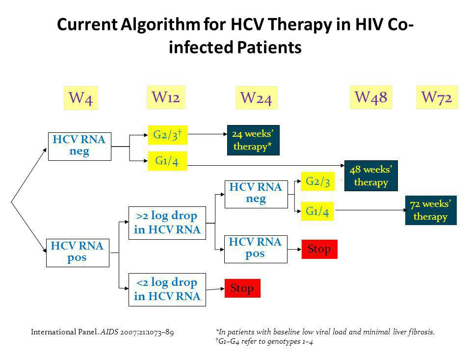 Current Algorithm for HCV Therapy in HIV Co-infected Patients