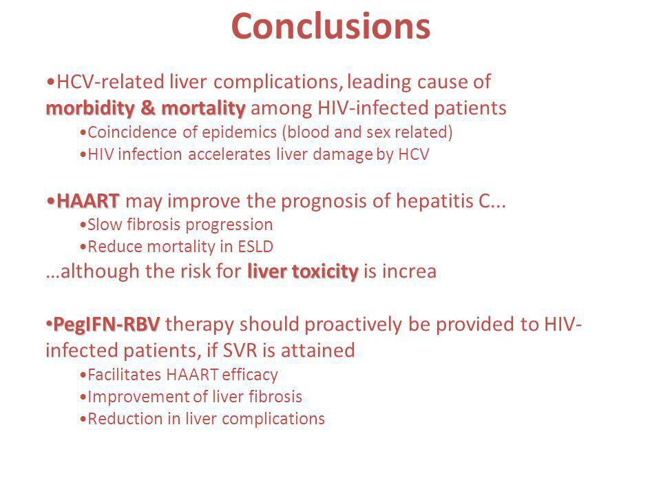Conclusions HCV-related liver complications, leading cause of