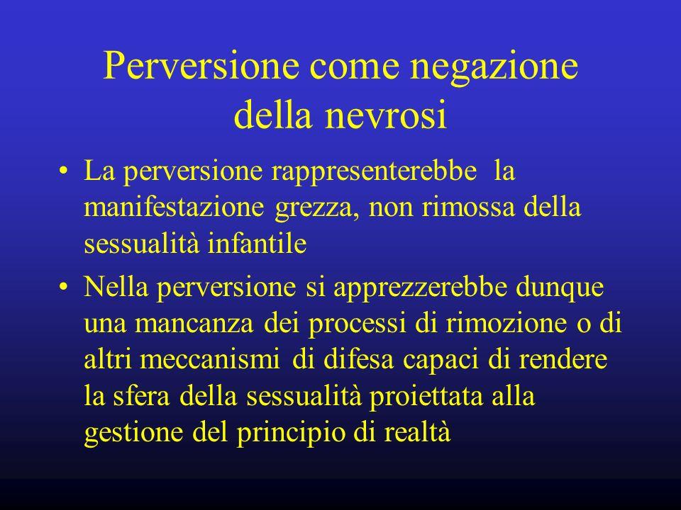 Perversione come negazione della nevrosi