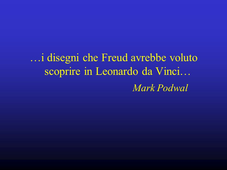 …i disegni che Freud avrebbe voluto scoprire in Leonardo da Vinci…