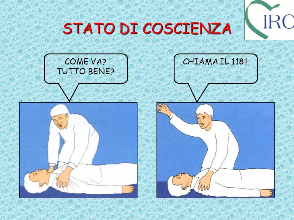 STATO DI COSCIENZA COME VA TUTTO BENE CHIAMA IL 118!!