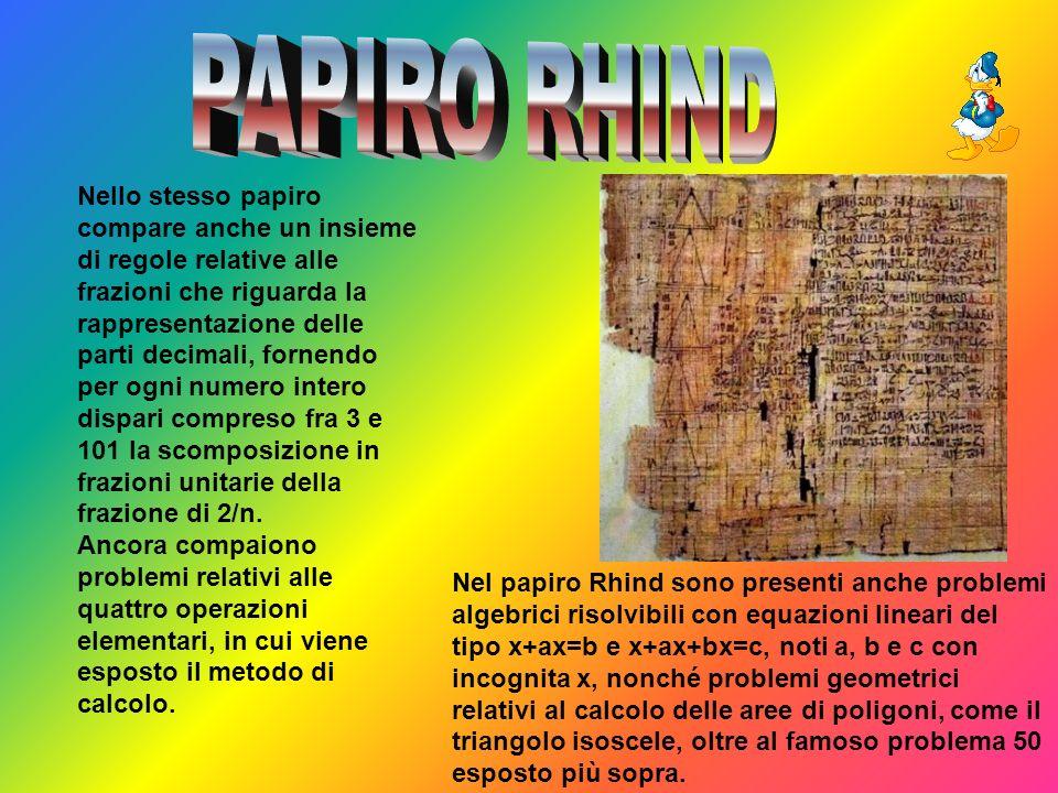 PAPIRO RHIND