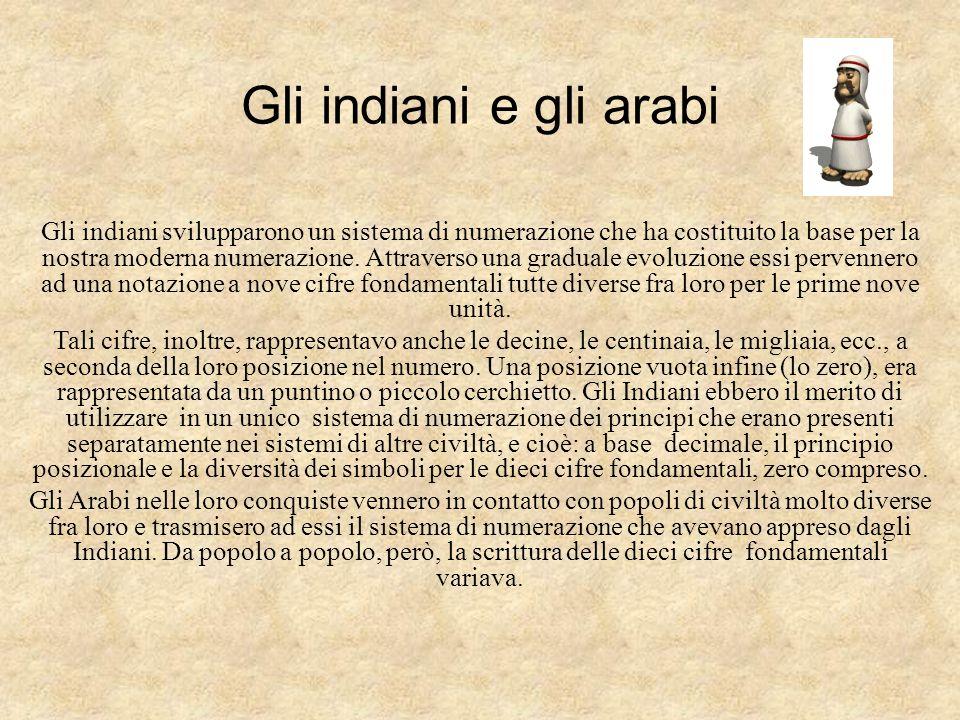 Gli indiani e gli arabi
