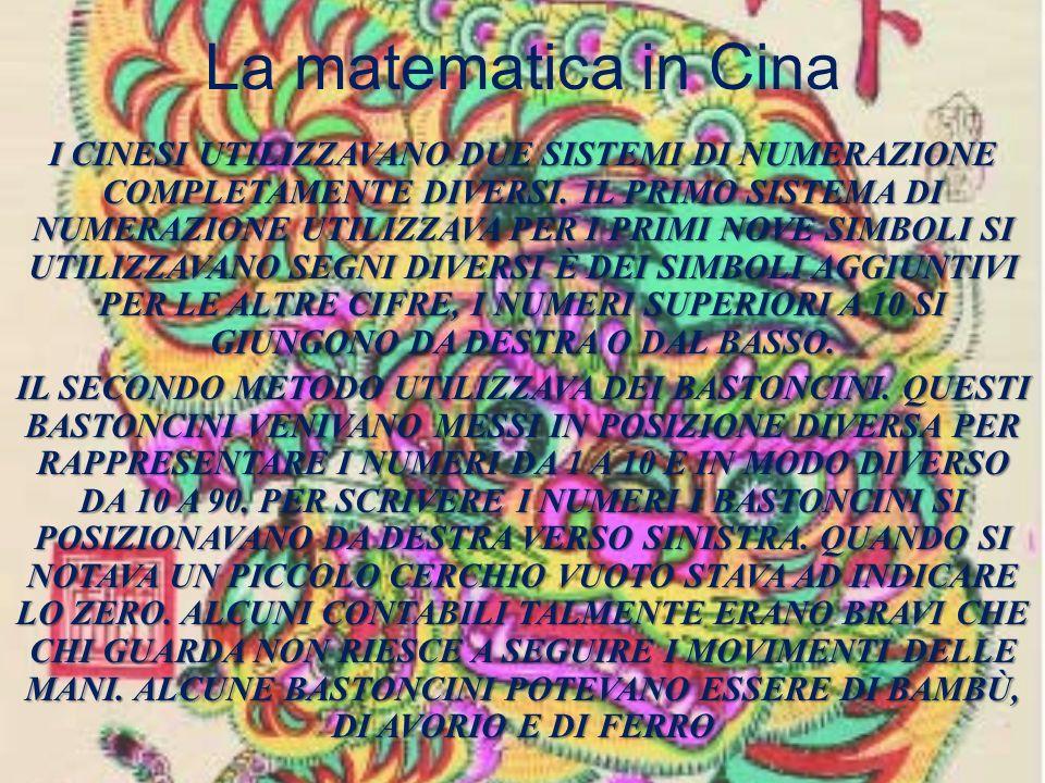 La matematica in Cina