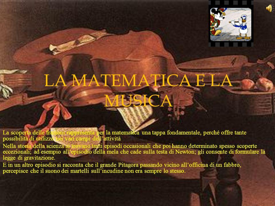 LA MATEMATICA E LA MUSICA