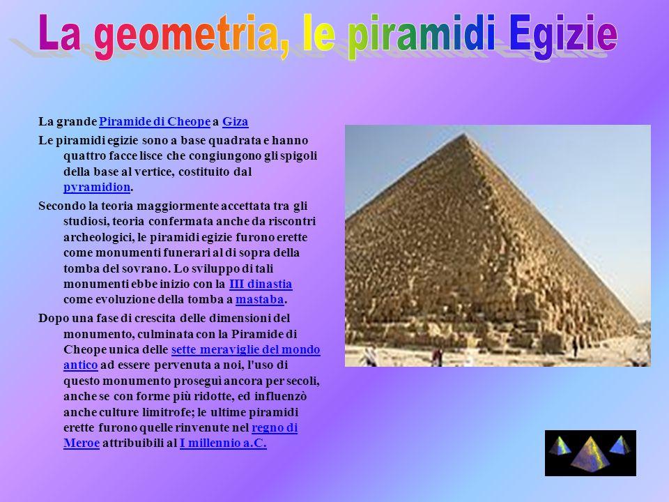 La geometria, le piramidi Egizie