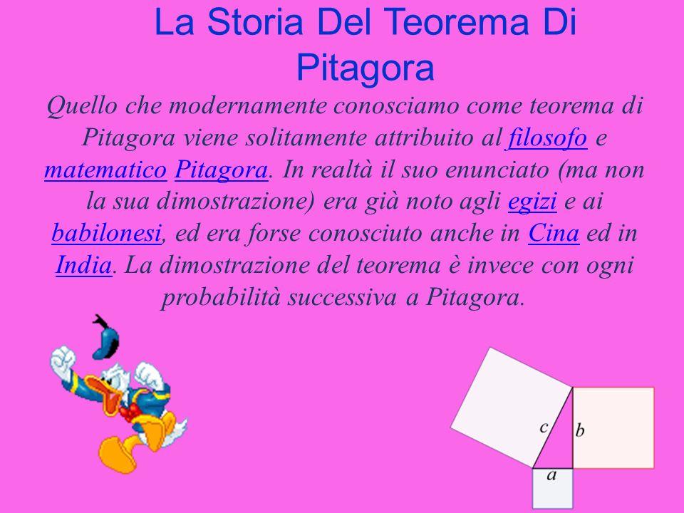 La Storia Del Teorema Di Pitagora