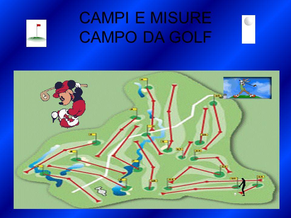 CAMPI E MISURE CAMPO DA GOLF