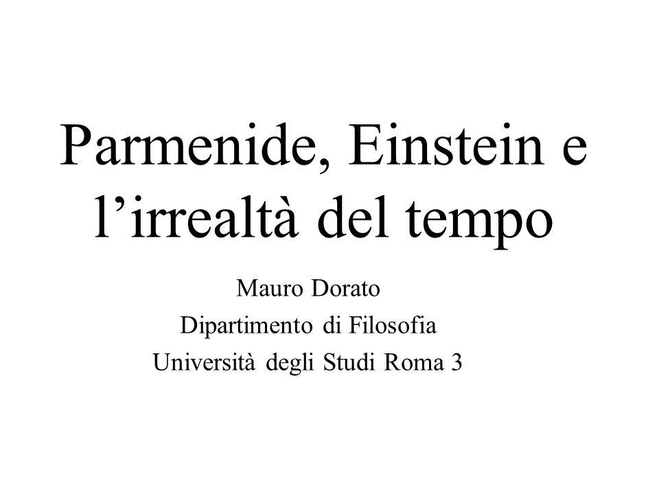 Parmenide, Einstein e l'irrealtà del tempo