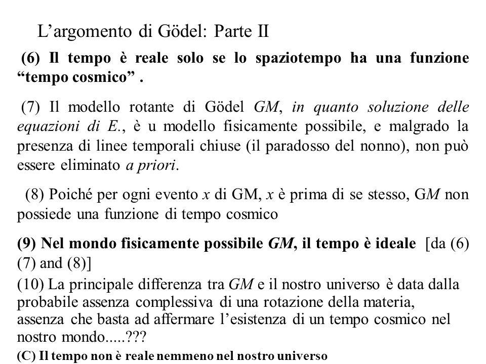 L'argomento di Gödel: Parte II
