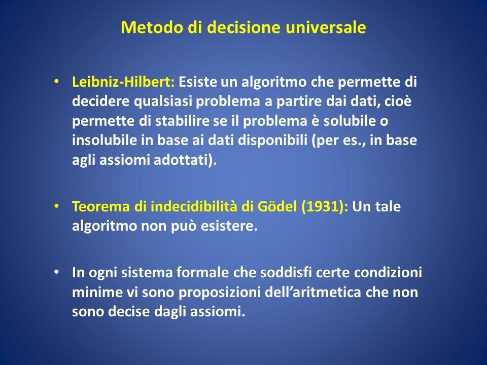 Metodo di decisione universale