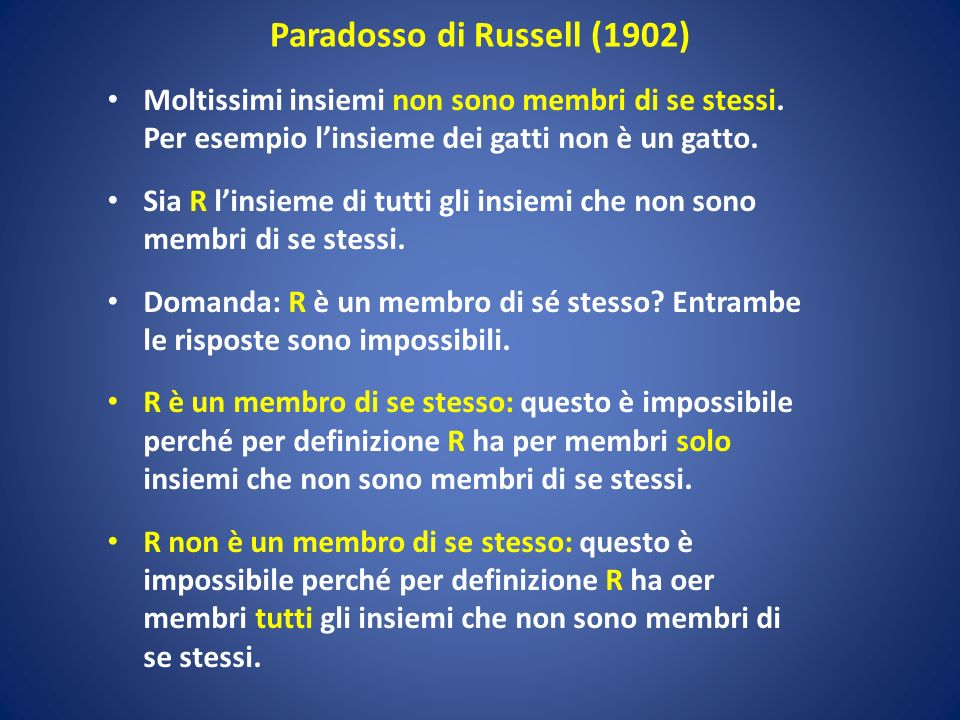 Paradosso di Russell (1902)