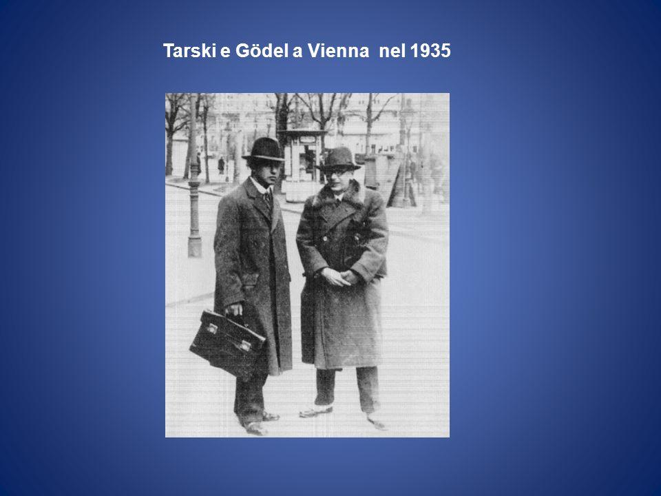 Tarski e Gödel a Vienna nel 1935