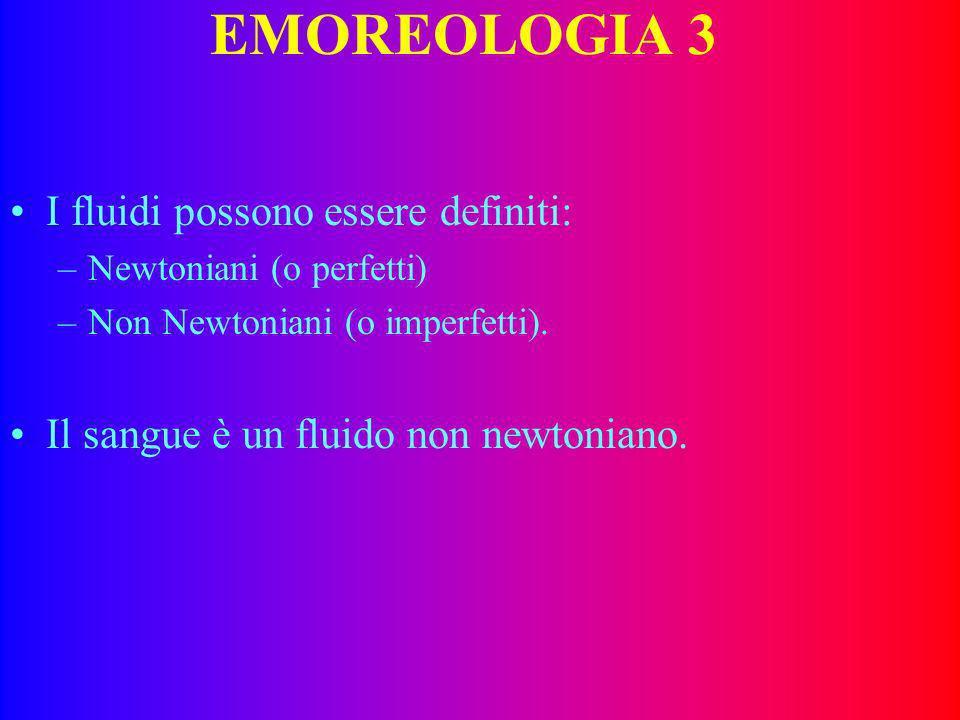 EMOREOLOGIA 3 I fluidi possono essere definiti: