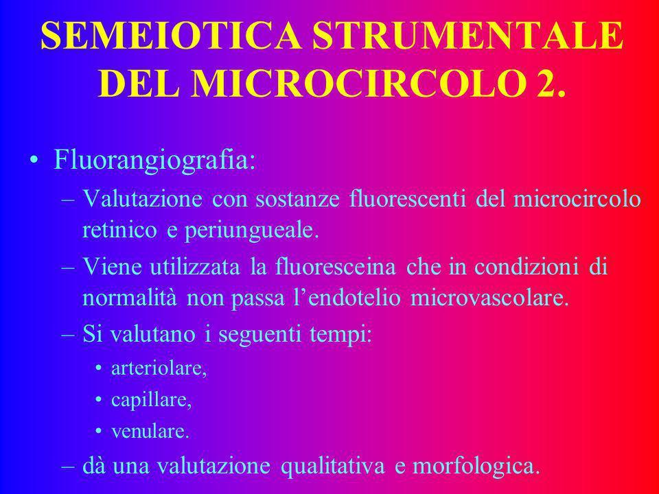 SEMEIOTICA STRUMENTALE DEL MICROCIRCOLO 2.
