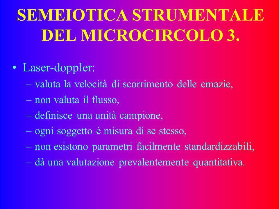 SEMEIOTICA STRUMENTALE DEL MICROCIRCOLO 3.