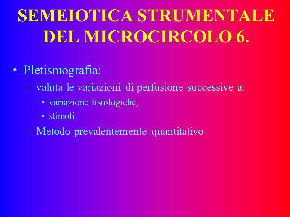 SEMEIOTICA STRUMENTALE DEL MICROCIRCOLO 6.