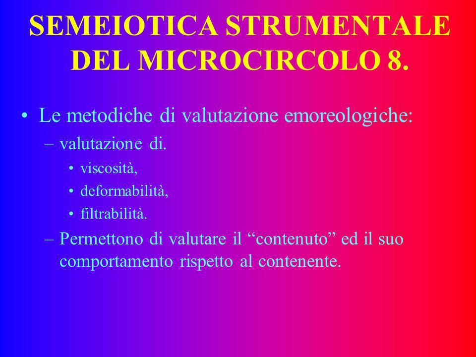 SEMEIOTICA STRUMENTALE DEL MICROCIRCOLO 8.