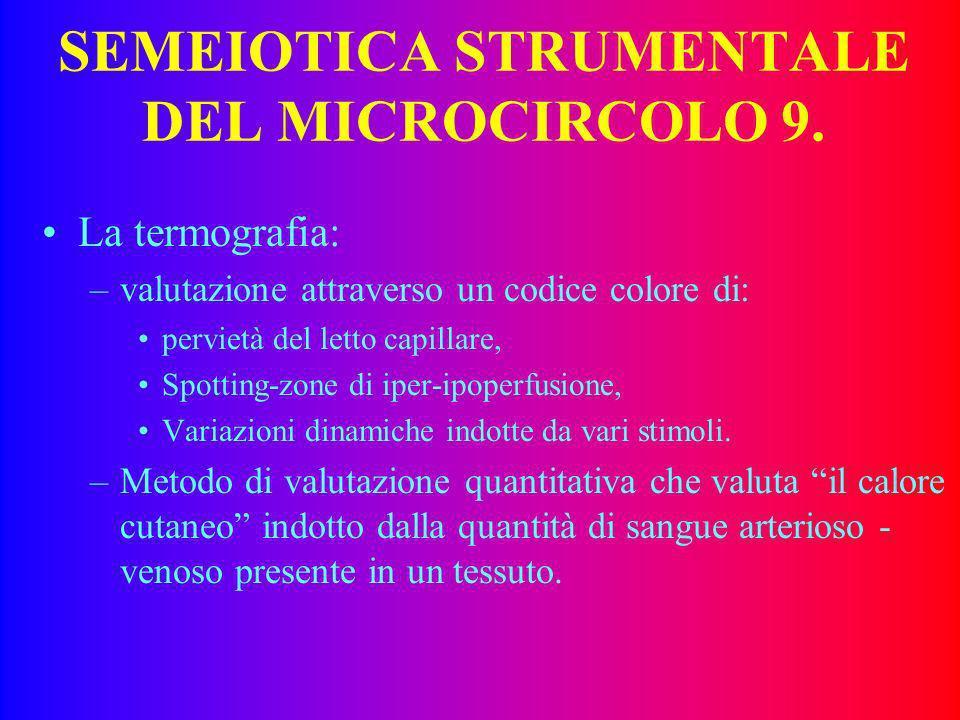 SEMEIOTICA STRUMENTALE DEL MICROCIRCOLO 9.
