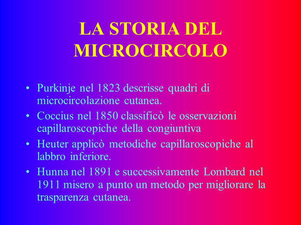 LA STORIA DEL MICROCIRCOLO