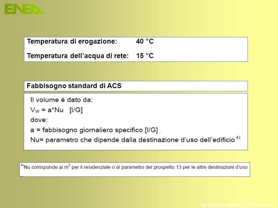 Temperatura di erogazione: 40 °C