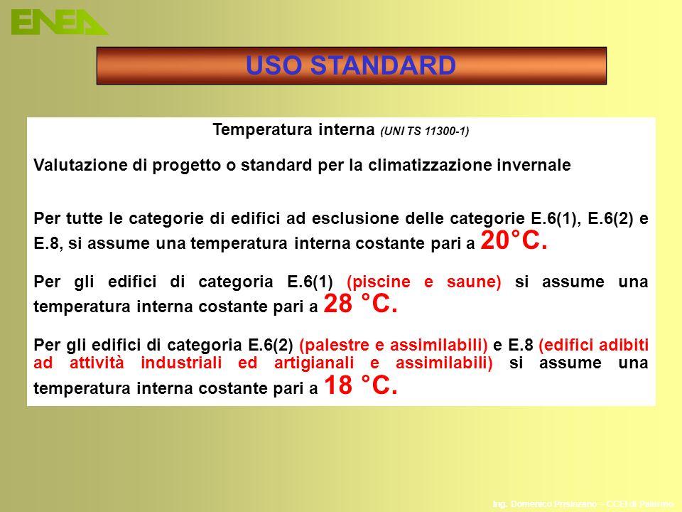 Temperatura interna (UNI TS 11300-1)