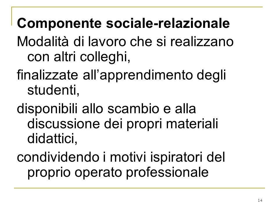 Componente sociale-relazionale